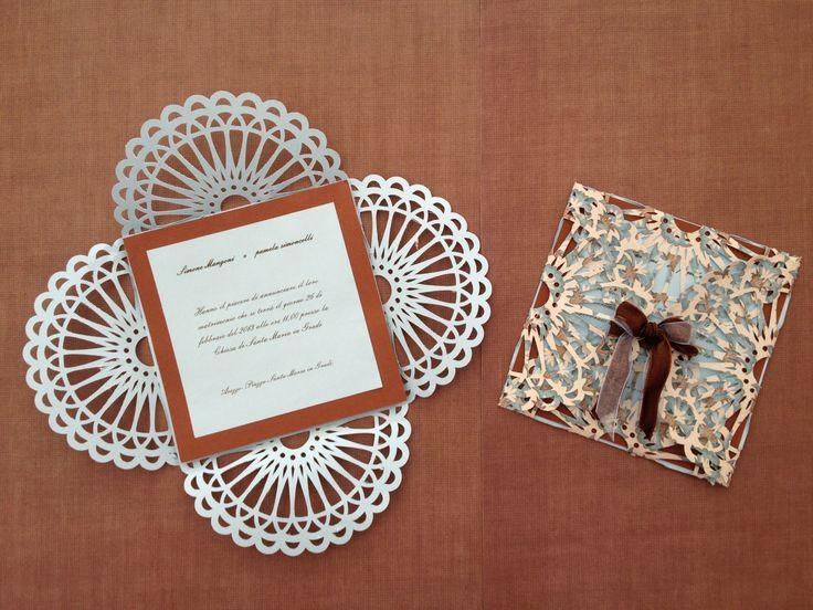 Wedding invitations CHOCOLATE EMBROIDERY
