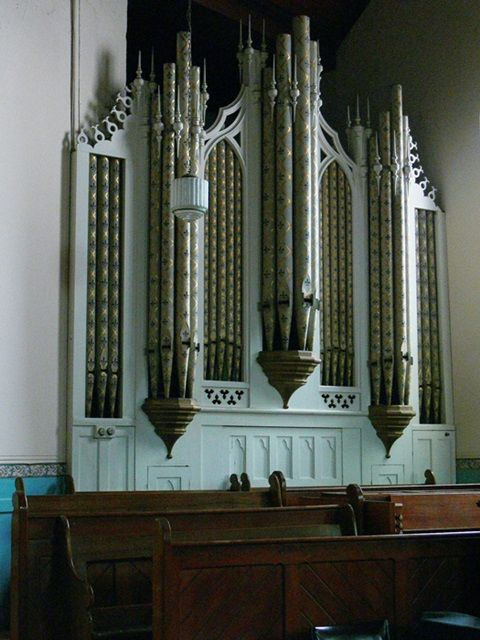 61790. Armadale Baptist Church organ pipes.