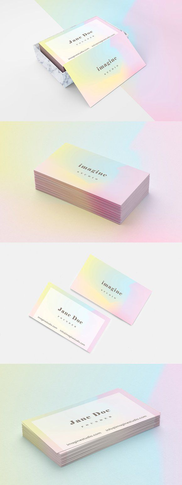 Minimal holographic business card by Polar Vectors on @Graphicsauthor