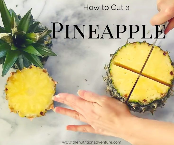 How to cut Pineapple- includes a video guide + recipe for Mango-Pineapple Whip via @karmanmeyer