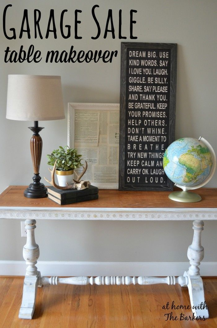 Garage Sale Table Makeover The Natural Entry Ways And Entryway Ideas