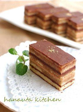 オペラ風チョコレートケーキ