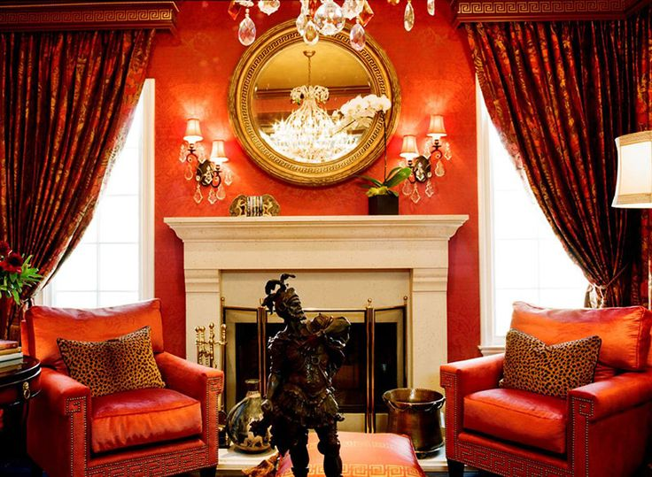 houzz Suzy q, better decorating bible, blog, interiors, orange, walls, slip cover, curtains ...