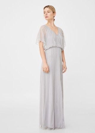 Bead embroidery dress | MANGO