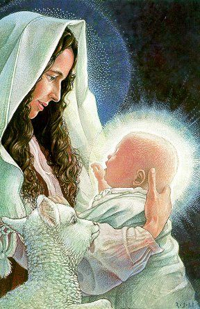 (via denise izzo)  How much Mary loves her baby Jesus and look at Jesus, feeling so much love for His Mother.