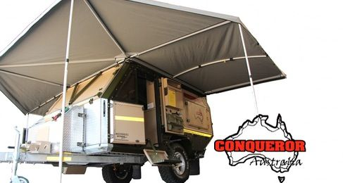 UEV-490 | Conqueror Australia: Expo Trailers, Features Kitchens, Crawler Ideas, Expedition Trailers, 490Awn Jpg 487 260, Adventure Trailers, Camps Trailers, Dreams Trailers, Conqueror Australia