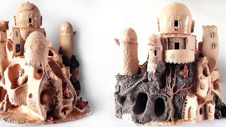 Port city candle holder ceramic sculpture SHOP: https://www.etsy.com/listing/526385365