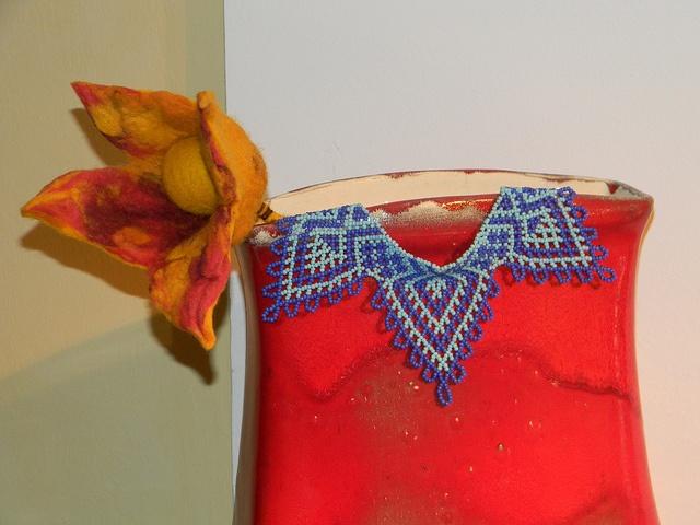 ceramic, beadwork, felt by ida.pazman, via Flickr