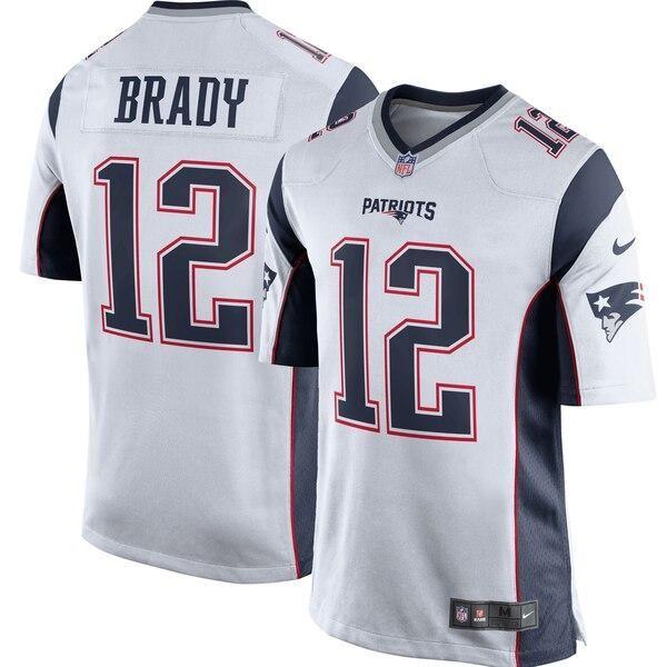 Men S New England Patriots 12 Tom Brady Game Jersey White In 2020 New England Patriots Game Tom Brady Jersey Patriots Game