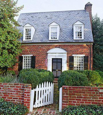 Best 25 shutters brick house ideas on pinterest - Small belgian houses brick ...