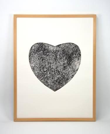 "Saatchi Art Artist Dennis Happé; Printmaking, ""Black heart ALL SOLD"" #art"