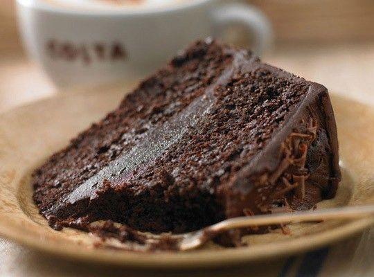 Pořádná porce čokolády - náš čokoládový dort:)