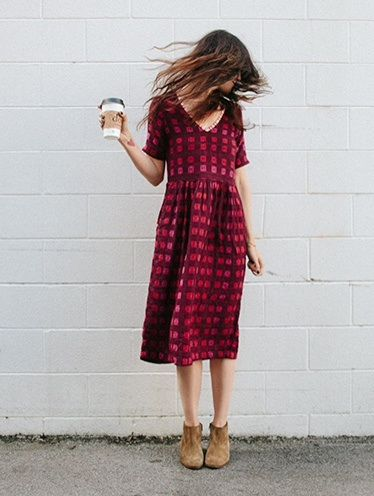 This is kind of edgy for me but for some odd reason I love it. It looks comfy but also a fun dress to throw on.