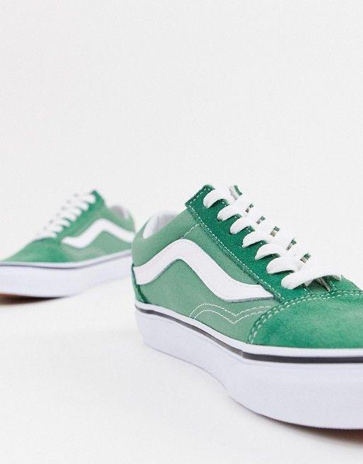 b94ac841fb Vans Old Skool green sneakers in 2019