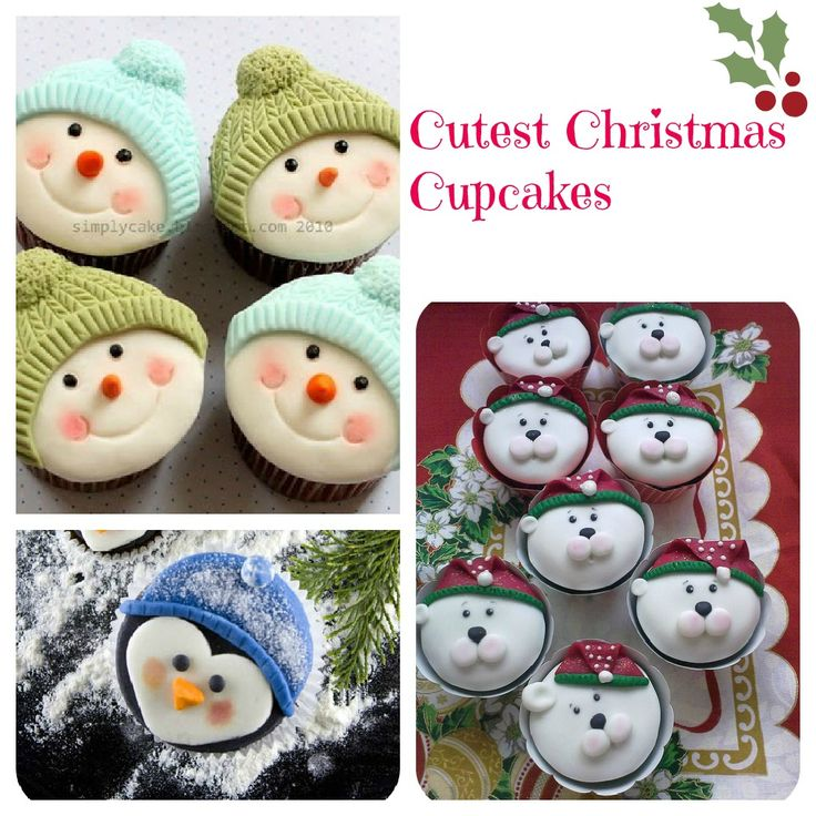 Cutest Christmas Cupcakes Dive In Desserts And So Cute