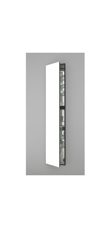 "Robern MC1670D6L M Series 16"" x 70"" x 6"" Single Door Medicine Cabinet with Left White Bathroom Storage Medicine Cabinets Single Door"