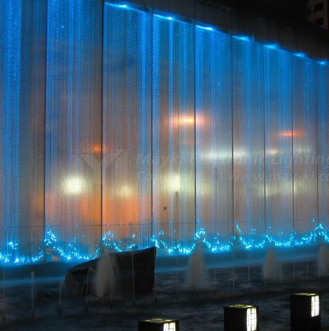 Fiber Optic Waterfall Curtain Green With Envy In 2018 Pinterest Lighting And