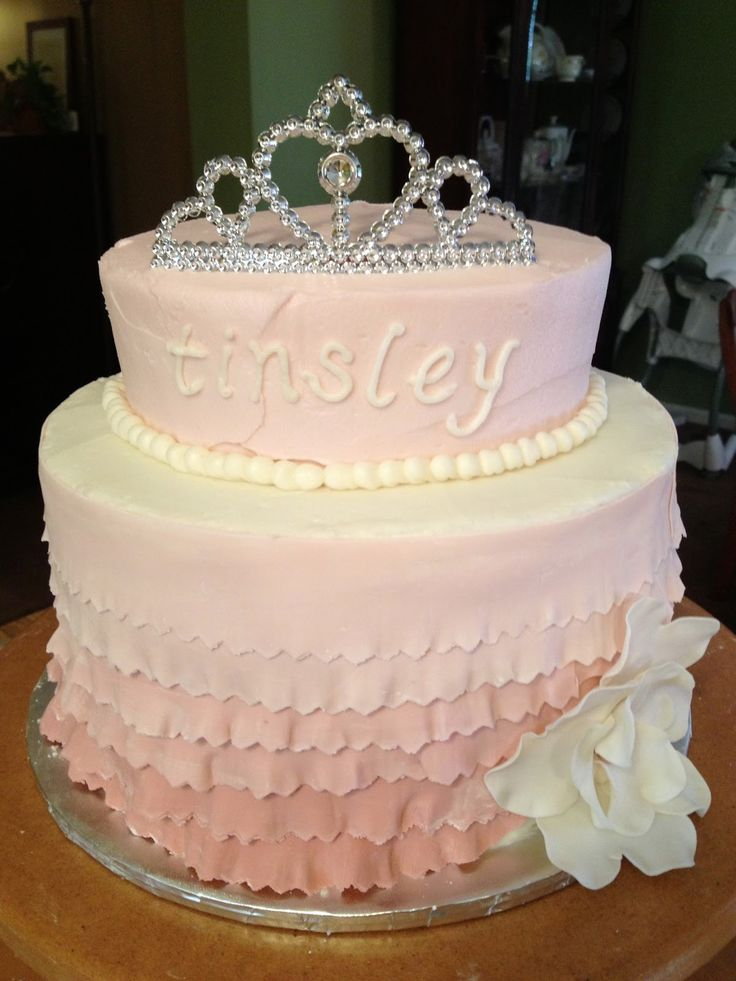 Princess themed first birthday cake  Double chocolate espresso cake   vanilla buttercream  Gum30 best Mary s first birthday cake ideas images on Pinterest  . Easy First Birthday Cake Girl. Home Design Ideas