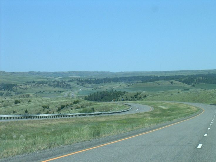 Billings, MT : Billings, Montana: Interstate 90 eastbound..Big Sky Country alright! You can see for MILES!!!