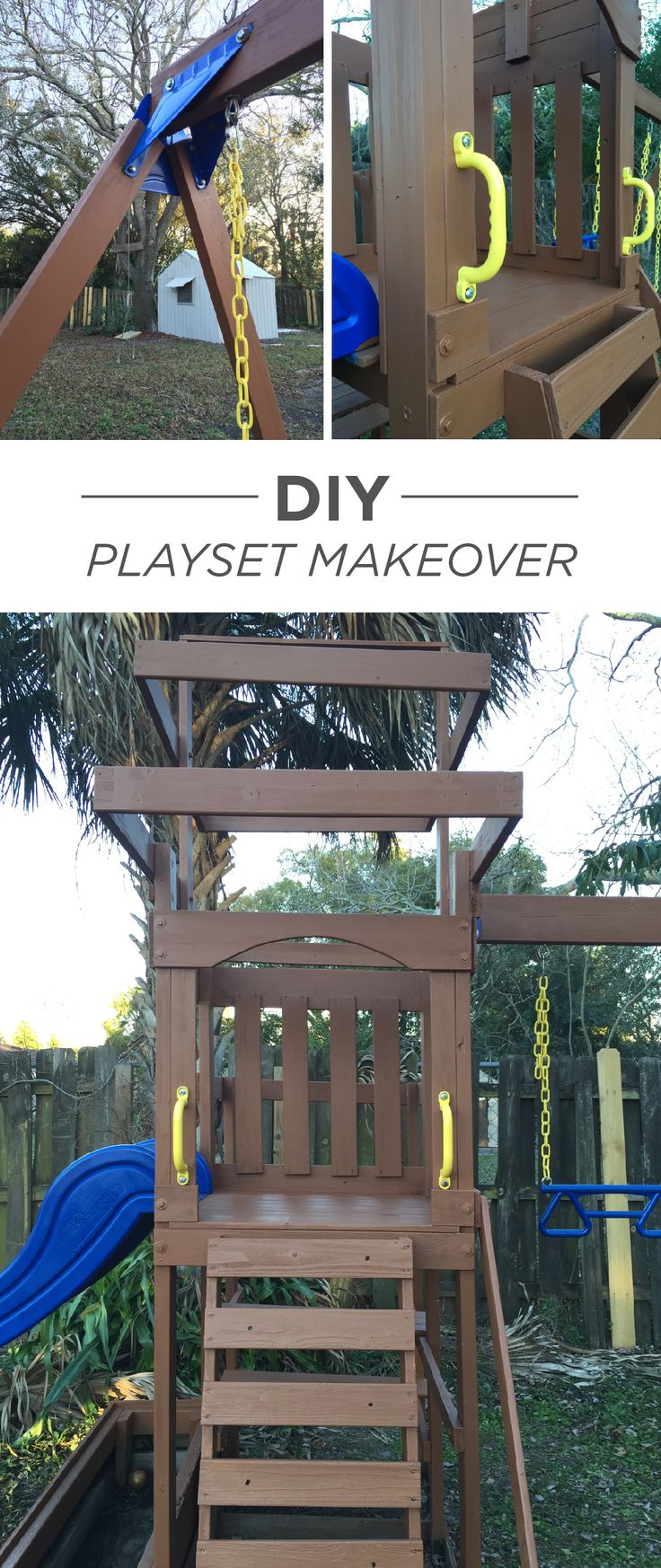 Give the outdated jungle gym a fresh update with project inspiration from this DIY playset makeover by blogger Hello Yina Brown. Your kids are sure to enjoy a fun new outdoor activity this spring.