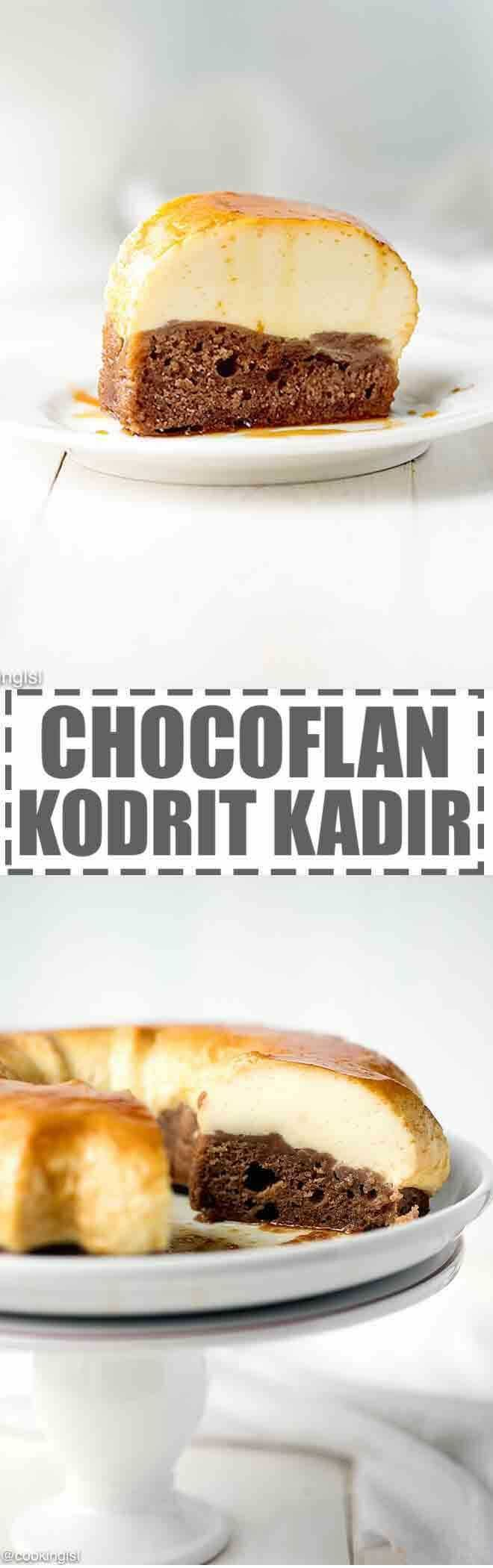 Easy Chocoflan Recipe - Kodrit Kadir -a simple and impressive dessert, that features a layer of chocolate cake on the bottom and smooth and creamy flan layer on top. The chocolate layer soaks up the caramel from the plan, which makes this Chocoflan (Kodrit Kadir) extra moist. via @cookinglsl