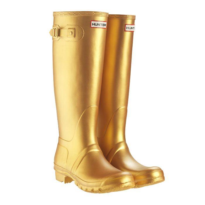 Hunter Original Kids Wellington Boots, Gold #gold