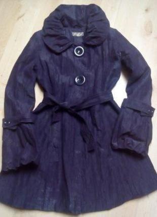 Fialový kabát plášť Y-London 38-40
