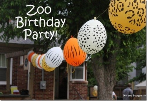 Outdoor Zoo Birthday Party - plus a ton more themed animal style birthday parties