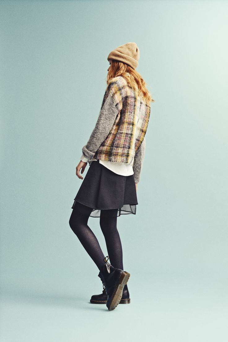 Holzweiler AW15 Collection - Fresia Yellowstone Sweater + Bushwick Beanie Camel + Rue Skirt