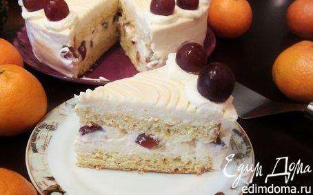 """Торт-Мусс """"Розовое вино"""" (Rosé borhabtorta)   Кулинарные рецепты от «Едим дома!»"""