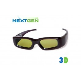 NextGen Universal Rechargeable 3D Active Shutter Glasses for 3D Televisions – Up to 50 Hours on One Charge - Electronics