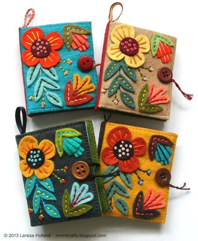 Flora sewing needle book pattern