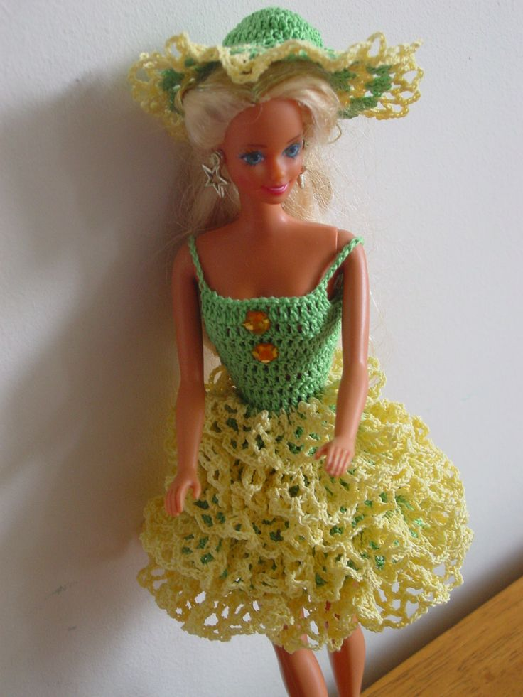 Crocheted Barbie outfit