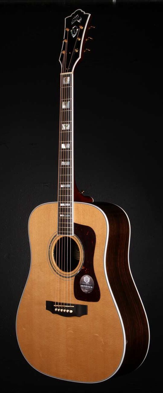 GUILD D-55 W/DTAR Pick-Up System Acoustic Electric Guitar - Natural | Small White Mouse