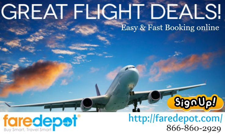 Searching for a low cost flight ticket? Faredepot is the right choice for you. You can book low fare flight tickets and afford yourselves with great-air fare deals on domestic flights. Get the best deals on your next vacation with cheap tickets.