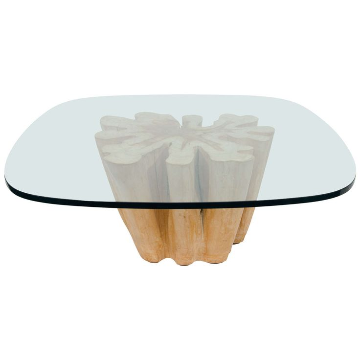 Elegant Cypress Tree Trunk Coffee Table