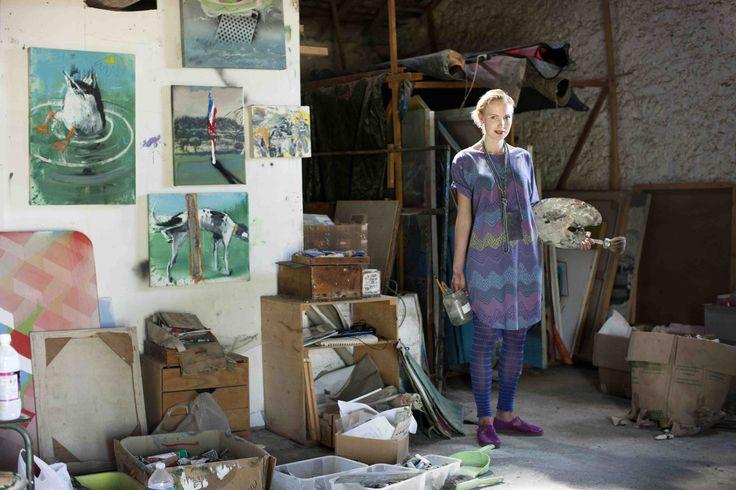Frühjahrskollektion 2014 - Wir lieben organische Muster mit skandinavischer Inspiration in funktionellen Schnitten! Das Atelier war zusätzlich der perfekte Ort für Gudruns farbstarke Mode.