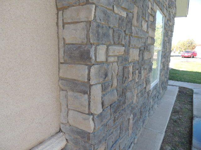 Stone veneer cracks.