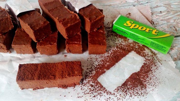 Diétás sportszelet - retro csoki házilag, cukormentesen!