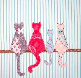 The four cats - great design for a pillow or tea towel.