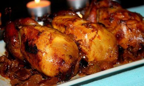 Recette de cailles farcies et sauce aux canneberges