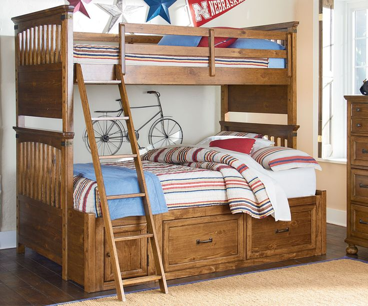 Legacy Classic Kids Furniture Bryce Canyon collection Bunk Bed Twin over Full 3900-8140K