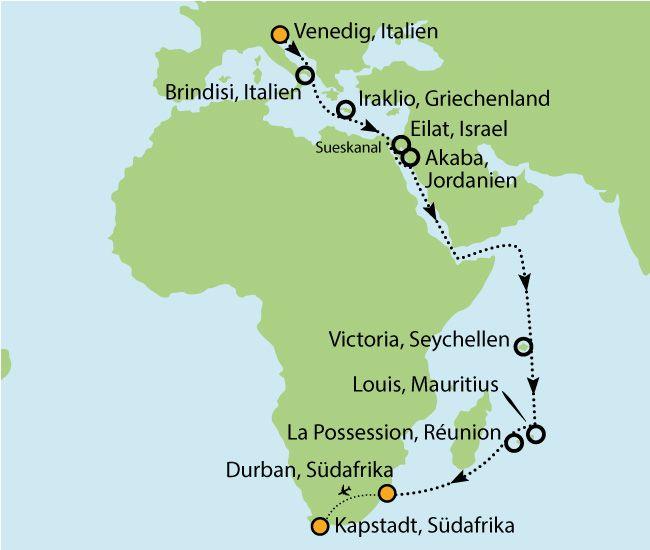MSC Musica - Von Venedig nach Südafrika - 30 Tage! - nur 2.699€ inkl. Flug!