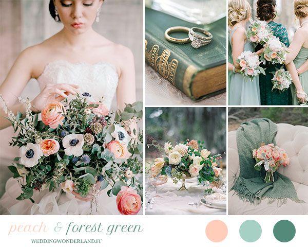 matrimonio pesca e verde bosco | wedding wonderland