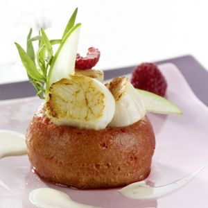 55 recettes de No   ---   les voir toutes ---  Baba de St jacques aux framboises, crème citron et estragon  : http://cuisine.journaldesfemmes.com/gastronomie/recettes-de-noel-pretes-a-l-avance/baba-de-coquilles-saint-jacques-aux-framboises.shtml