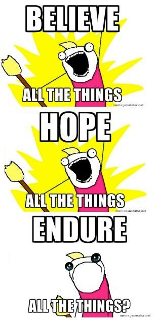 Endure all the things?: Salvation and Stuff.