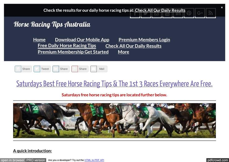 Saturdays April 29th Free Horse Racing Tips