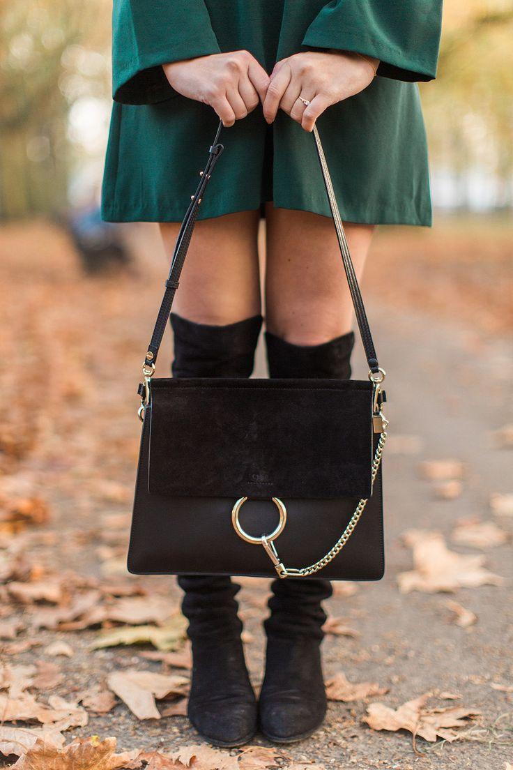 Chloe Faye Black Shoulder Bag