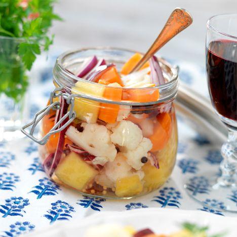 Recept på Picklade grönsaker från - Hemmets Journal