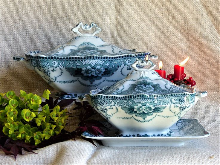 Vintage Soup Tureens, Vegetable Bowls, Set Of 2 Soup Tureens, Soup Bowls,  Covered Vegetable Bowls, Servingware, Chic Dining, GIFT FOR HER